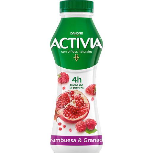 DANONE ACTIVIA Go yogur líquido frambuesa y granada botella 280 gr