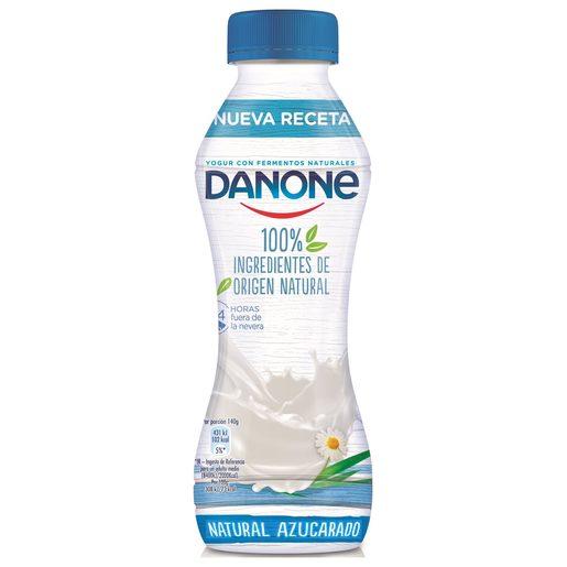 DANONE yogur líquido natural azucarado botella 280 gr