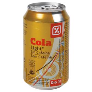DIA refresco de cola light sin cafeína lata 33 cl