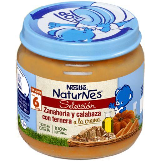 NESTLE Naturnes selección zanahoría y calabaza con ternera tarrito 190 gr