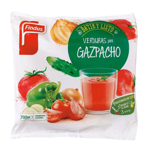 FINDUS verduras para gazpacho bolsa 700 gr