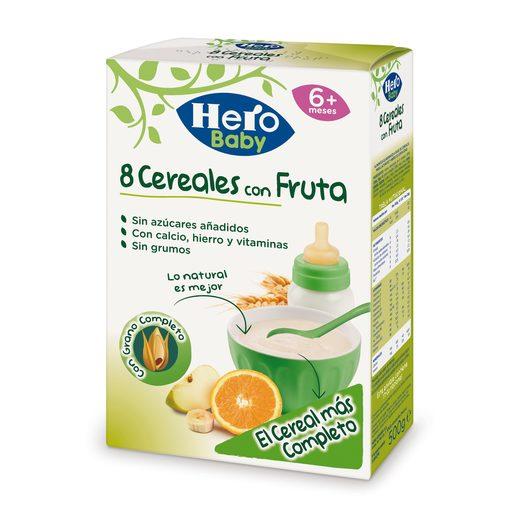 HERO Baby papilla 8 cereales con fruta caja 500 gr