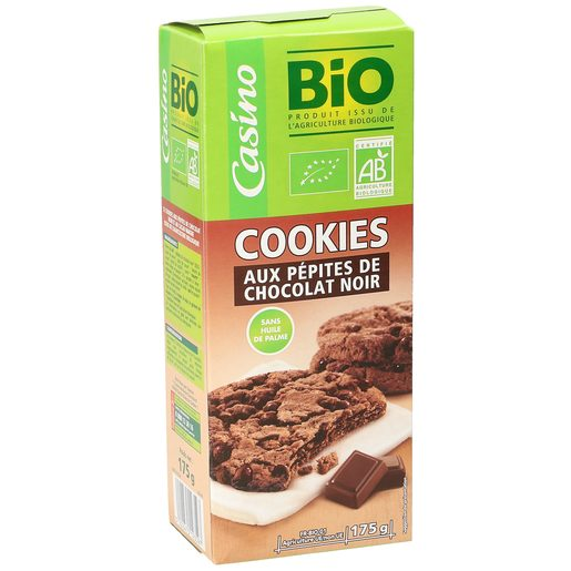CASINO BIO galletas cookies de chocolate caja 175 gr