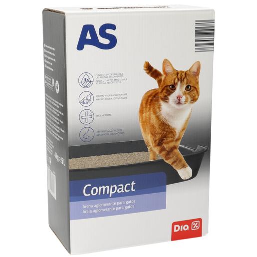 AS arena para gatos compacta caja 4 Kg