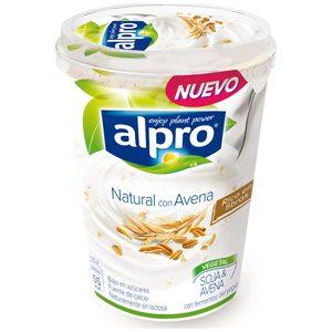 ALPRO yogur de soja con avena vaso 500 gr