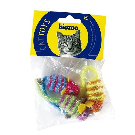 BIOZOO ratón juguete para gatos 3 uds