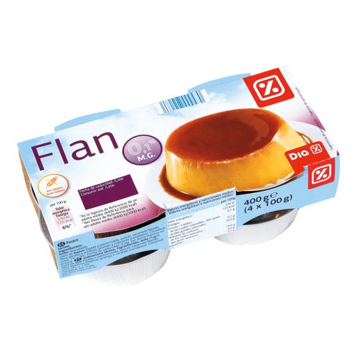 DIA flan de huevo 0% mg pack 4 unidades 100 g