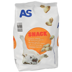 AS snack para perros galletas rellenas de carne envase 500 gr