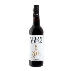 TOPAZ vino blanco generoso de jerez cream botella 75 cl