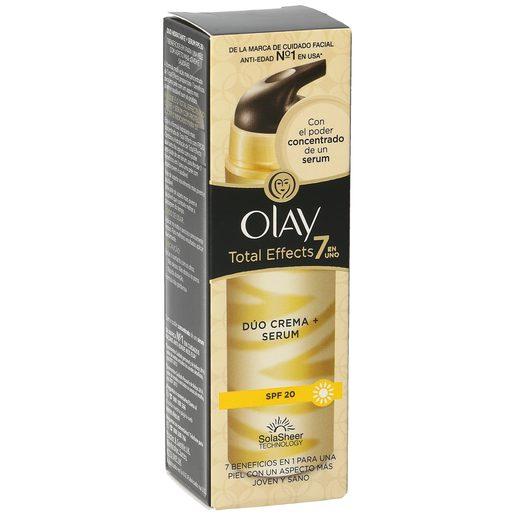 OLAY Total effects 7 en 1 crema + serum antiedad dúo spf 20 caja 40 ml