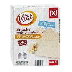 DIA VITAL snack bañado en chocolate blanco multivitaminado caja 200 gr