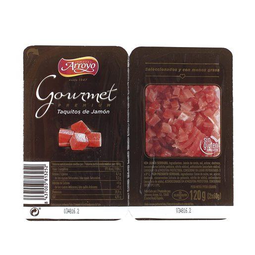 ARROYO Gourmet taquitos de jamón serrano envase 2 x 60 gr