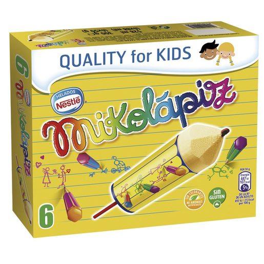 NESTLE helado mikolápiz caja 6 uds 300 gr