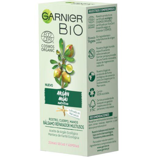 GARNIER Bio bálsamo reparador multiusos argán pieles secas y ásperas tubo 50 ml