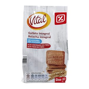 DIA VITAL galleta desayuno integral sin azúcar bolsa 350 gr