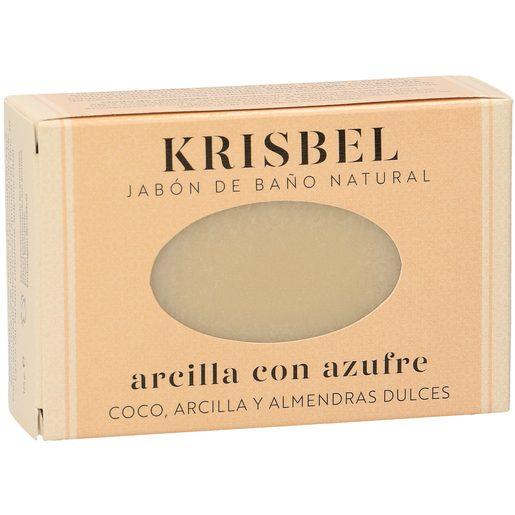 KRISBEL jabón de manos arcilla con azufre pastilla 125 gr