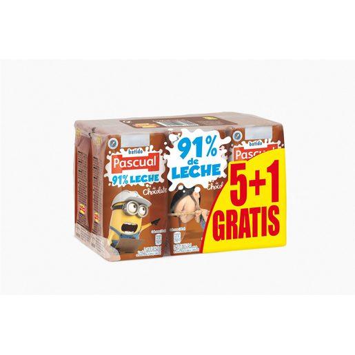 PASCUAL batido de chocolate pack 6 unidades 200 ml