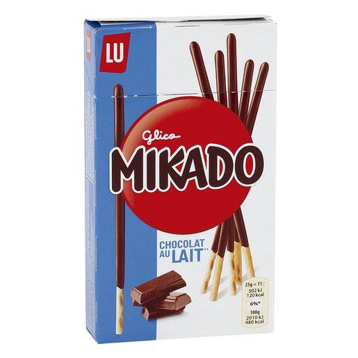 LU Mikado palitos de galleta recubiertos de chocolate con leche caja 75 gr