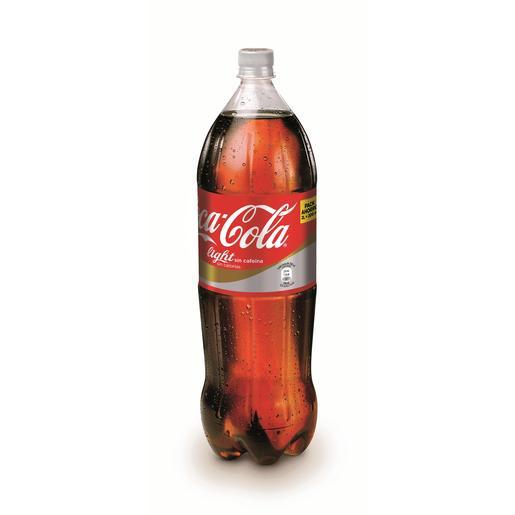 COCA COLA light sin cafeína botella 2 lt