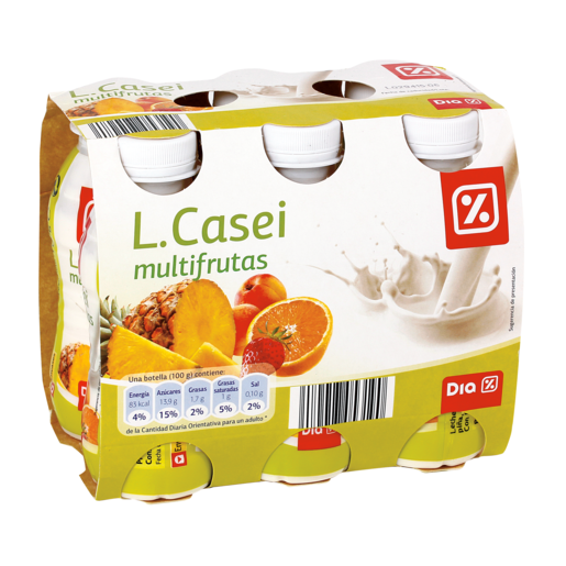 DIA LIFEFORM yogur líquido multifruta pack 6 unidades 100 g