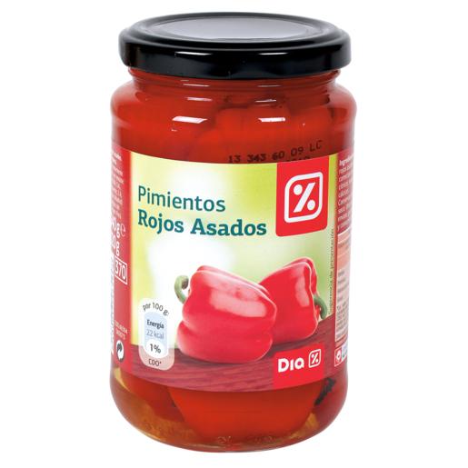 DIA pimientos rojos asados frasco 220 gr