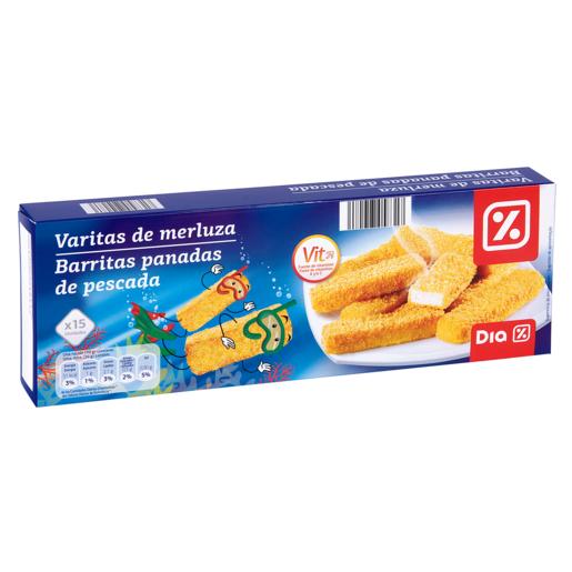 DIA varitas de merluza vitaminadas caja 450 gr