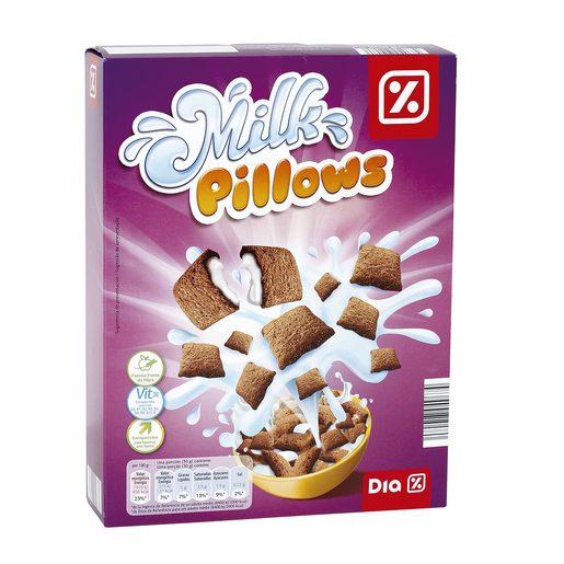 DIA cereales rellenos de leche paquete 500 gr