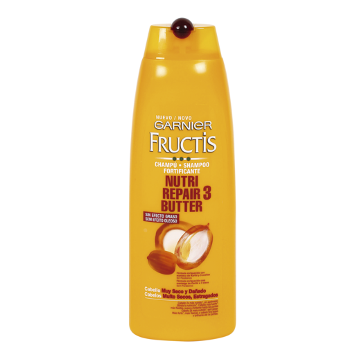 FRUCTIS champú fortificante nutri repair 3 butter cabello muy seco 300 ml