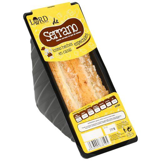 LORD SANDWICHES sandwich serrano especial 160 gr