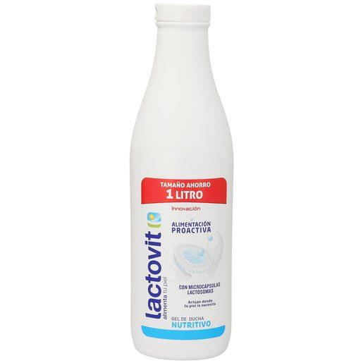LACTOVIT gel de baño proteinas lácteas nutritivo piel normal bote 1 lt