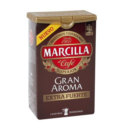 MARCILLA café molido extra fuerte gran aroma paquete 250 gr