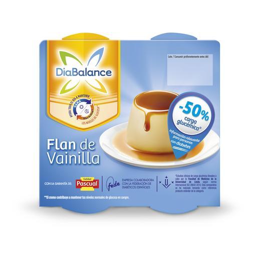 PASCUAL DIABALANCE flan de vainilla pack 4 unidades 100 gr