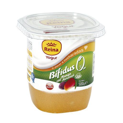 REINA yogur bífidus mango y maracuya vaso 500 gr