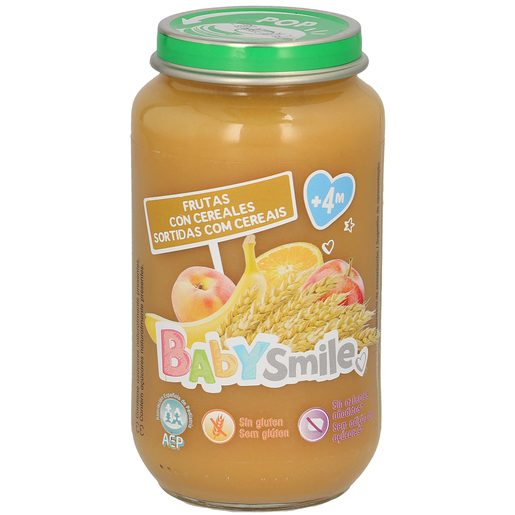 BABYSMILE frutas con cereales tarrito 250 gr