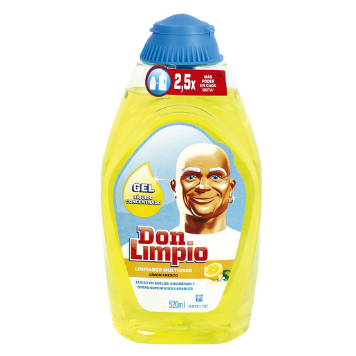 DON LIMPIO limpiador multiusos limón concentrado botella 520 ml