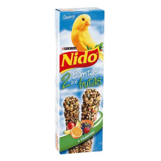 NIDO barritas con frutas para canarios caja 2 uds