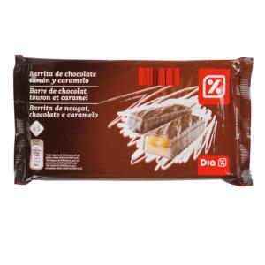 DIA barrita chocolate turrón y caramelo bolsa 200 gr