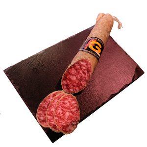 FLORENCIO GOMEZ salchichón ibérico de bellota en lonchas sobre (peso aprox. 200 gr)