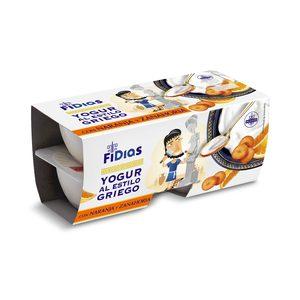 DIA FIDIAS yogur griego con naranja y zanahoria pack 4 unidades 125 gr