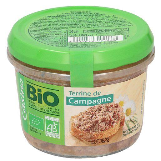 CASINO BIO paté de cerdo tarro 180 gr
