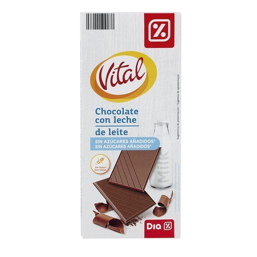 DIA VITAL chocolate con leche sin azúcar tableta 100 gr