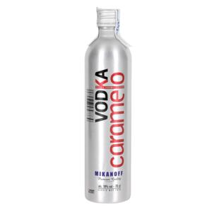 MIKANOFF vodka con sabor a caramelo botella 70 cl