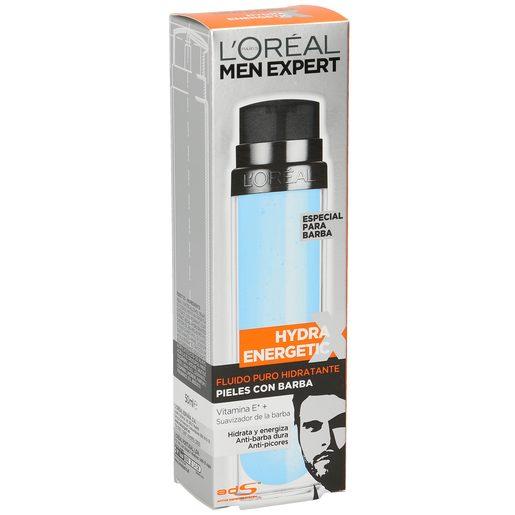 L'OREAL Men expert hydra energic fluido hidratante pieles con barba 50 ml