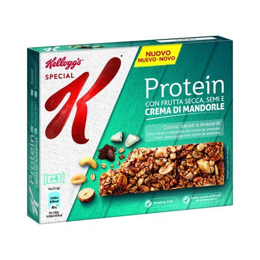 KELLOGG`S barritas special k protein con coco, cacao y anacardos caja 112 gr
