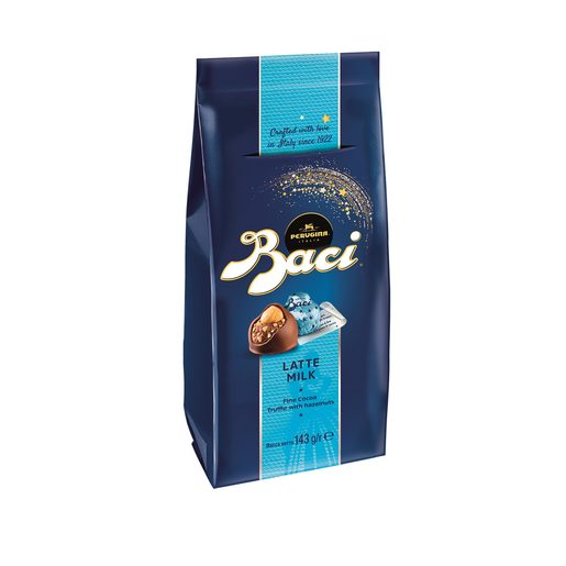BACI bombones con chocolate y leche bolsa 143 gr