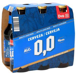 DIA cerveza 0,0% alcohol pack 6 botellas 25 cl