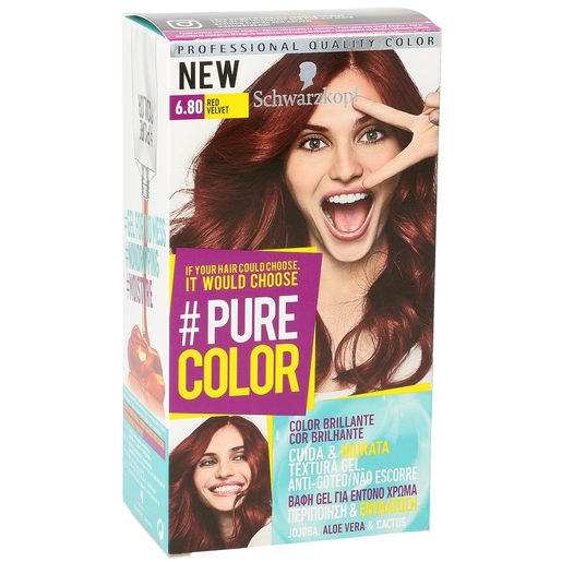 PURE COLOR tinte Red Velvet Nº 6.8 caja 1 ud