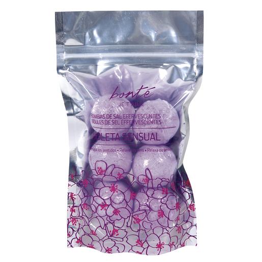 BONTE bombas de sal efervesentes relajante violeta envase 6 uds