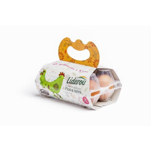 LIDEROU huevos frescos clase M estuche 6 uds