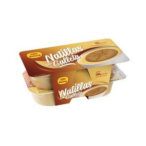 REINA natillas con galleta pack 4 unidades 125 g